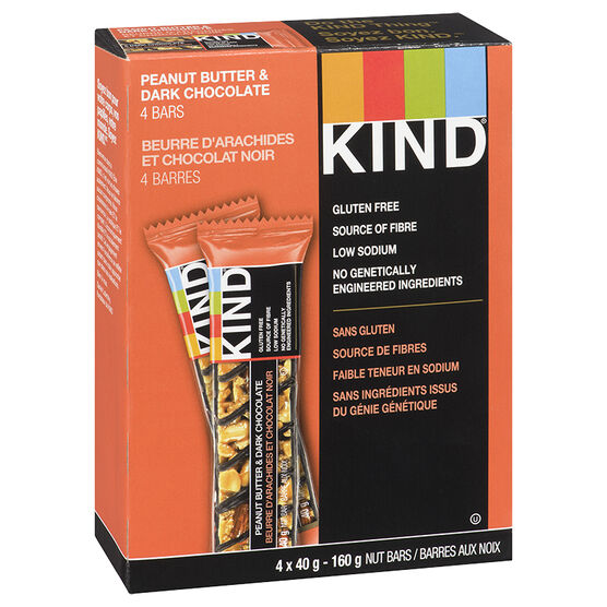 Kind Bar - Peanut Butter Dark Chocolate - Gluten Free - 4 pack/160 g