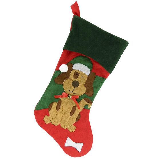 Christmas Forever Pet Stocking - 17 inch - Dog