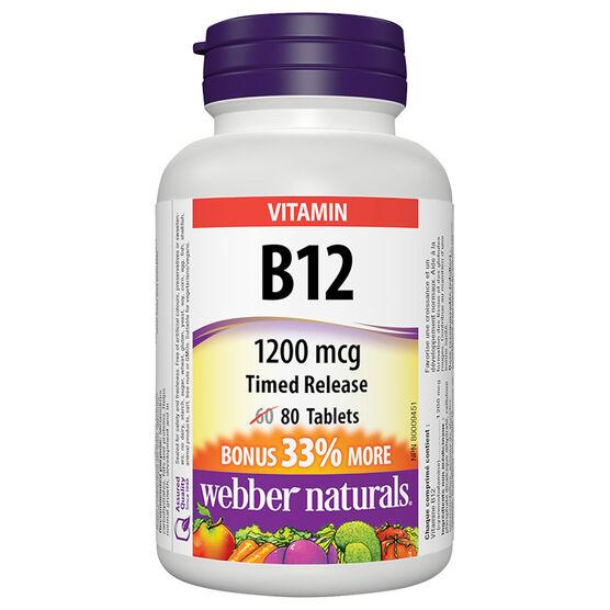 Webber Naturals B12 Timed Release 1200mcg - 60's