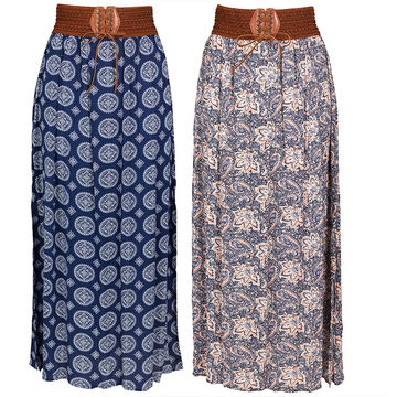 Guilty Maxi Skirt with Belt - Assorted