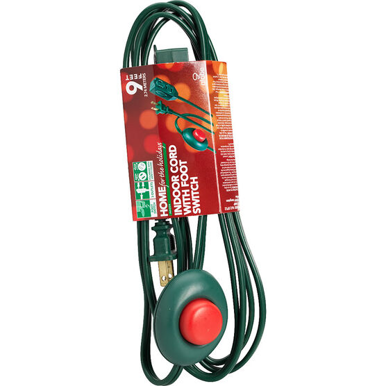 Globe Outlet with Foot Switch - 3m - Green
