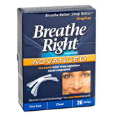 Breathe Right Advanced Nasal Strips - Clear - 26's