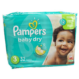 Pampers Baby Dry Diapers - Size 3 - 32's