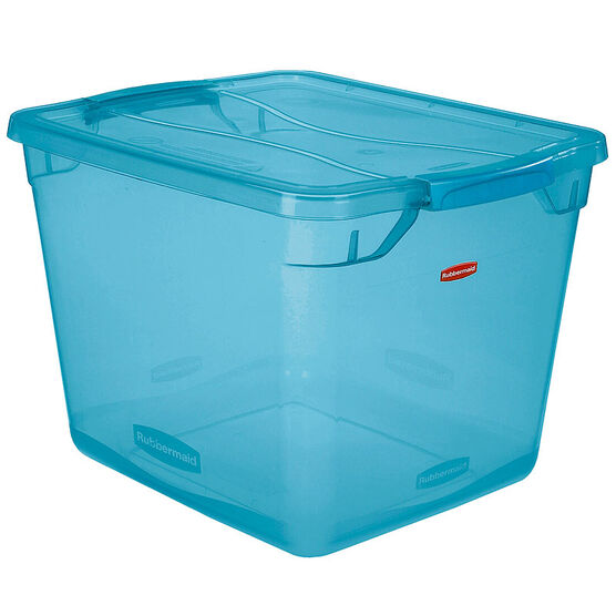Rubbermaid Cleverstore Tote - Blue - 30L