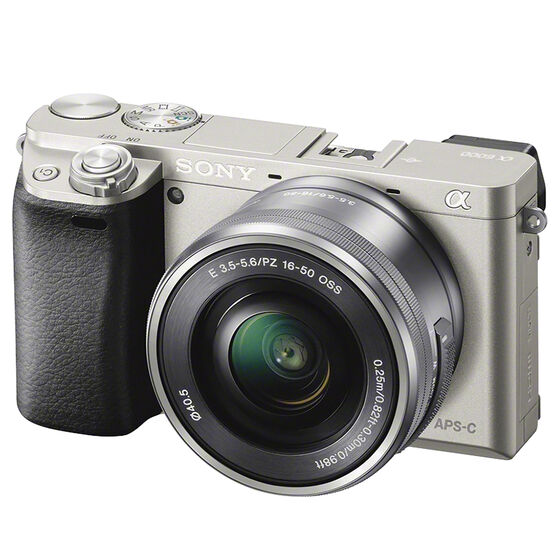 Sony a6000 Mirrorless Camera w/ 16-50mm Lens - Silver - ILCE6000LS