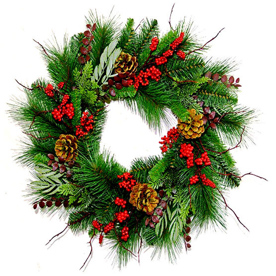 Winter Wishes Forest Wreath - 20""