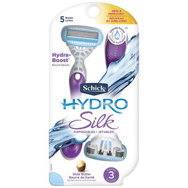 Schick Hydro Silk Disposable Razors - 3's