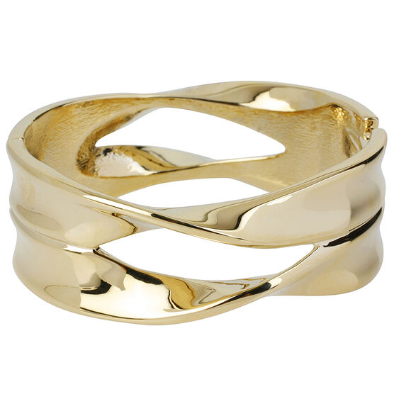 Robert Lee Morris Cut Out Hinged Bangle - Bronze/Gold Plated