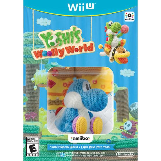 Wii U Yoshi's Woolly World with Blue Yarn Yoshi Amiibo
