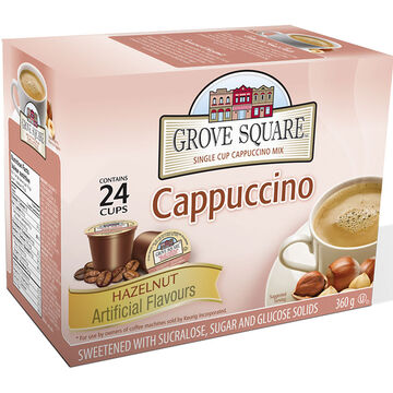 Grove Square Cappuccino - Hazelnut - 24 pack