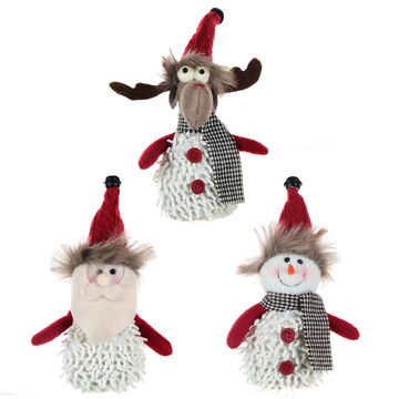 Winter Wishes Hanging Characters Ornament - 7 inch - Assorted