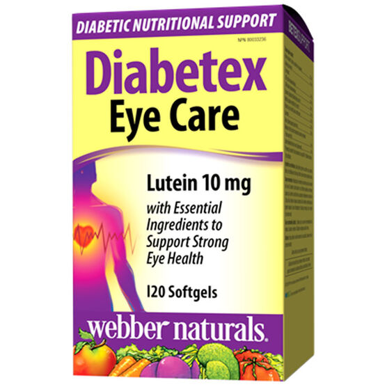 Webber Naturals Diabetex Eye Care - 10mg - 120's