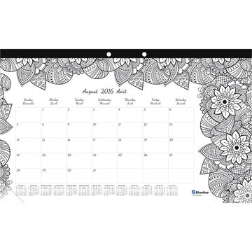 Blueline Monthly Desk Pad - Small