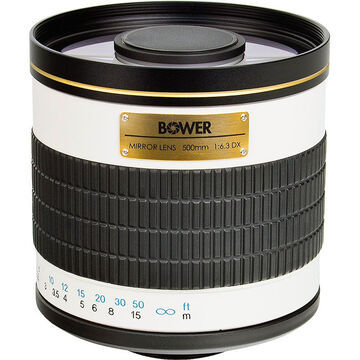 Bower 500mm F6.3 Lens with T-Mount Adaptor for Canon