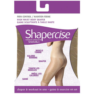 Shapercise High Waist to Knee - Extra Large - Nude