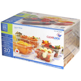 Clearlock Tritan Food Storage Container Set - 20 piece
