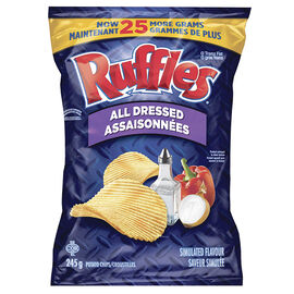 Ruffles Potato Chips - All Dressed -245g