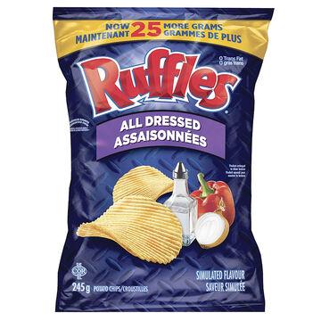 Ruffles Potato Chips - All Dressed -245g
