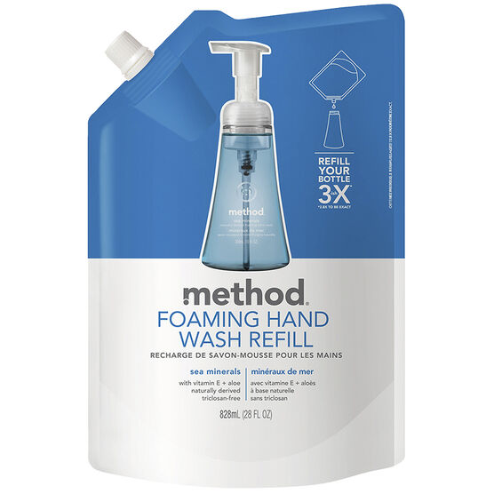 Method Foaming Handwash Refill - Sea Mineral - 828ml