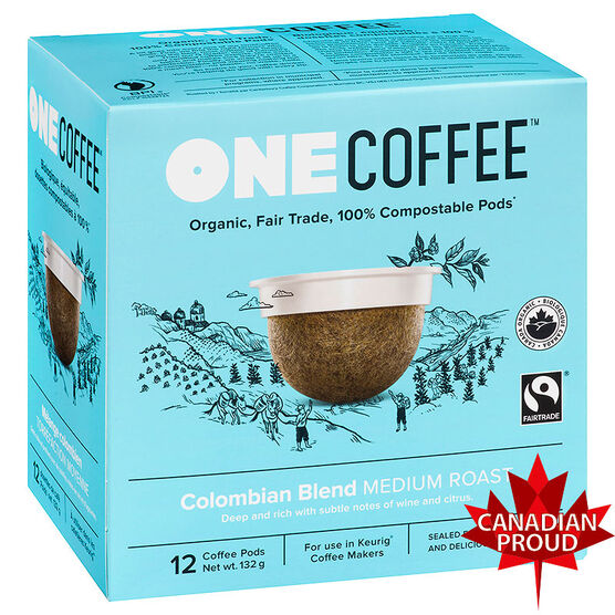 One Coffee Organic Single Serve Coffee Pods - Colombian - 12's