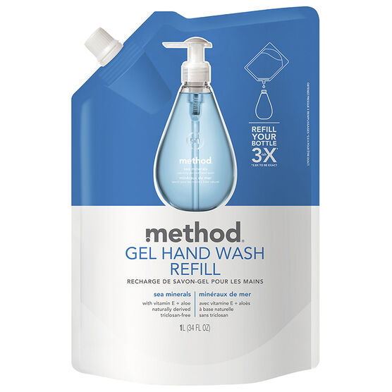 Method Gel Hand Wash Refill - Sea Minerals - 1L