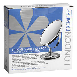 London Premiere Chrome Vanity Mirror - 17cm