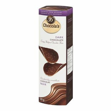 Chocola's Crispy Belgian Chocolate Thins - Dark Chocolate - 125g