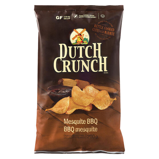 Dutch Crunch Kettle Cooked Potato Chips - Mesquite BBQ - 200g