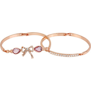 Betsey Johnson Fave Bow Bangle Duo - Pink