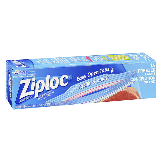 Ziploc Freeze Guard Bags - Large - 14's