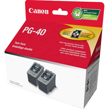 Canon PG-40 Twin Pack Ink Cartridge - Black - 0615B011