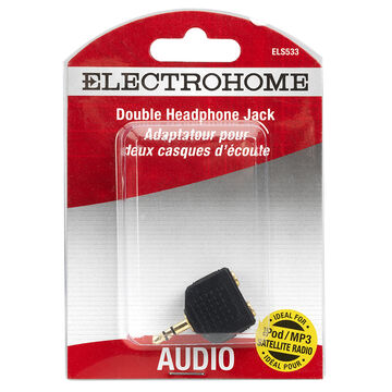 Electrohome Stereo Mini Jack/Plug/Duplex Adapter - ELS533