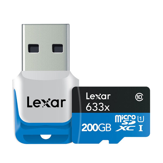 Lexar 633X microSDXC UHS-I Card - 200GB - LSDMI200BBNL633R