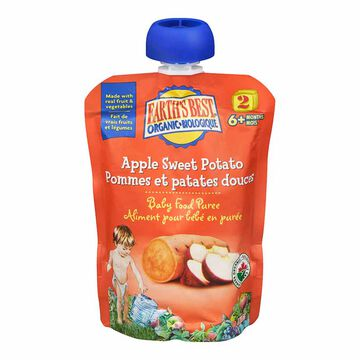 Earth's Best Infant Puree Pouch - Apple and Sweet Potato - 128 ml