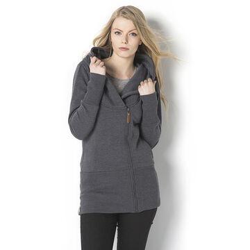 Lava Zip Front Sweater - Graphite - B-DONYA