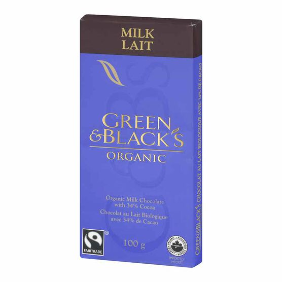Green & Blacks Organic Chocolate - Milk Chocolate - 100g