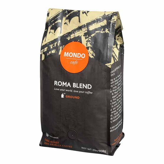 Mondo Cafe Roma Ground Coffee - Dark Roast - 908g
