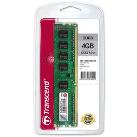 Transcend 4GB DDR3 1333Mhz U-DIMM - TS512MLK64V3H