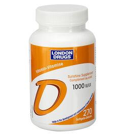 London Drugs Vitamin D Softgels - 1000iu - 270's