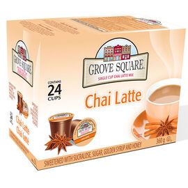 Grove Square Single Cup Coffee - Chai Latte - 24's