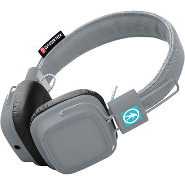 outdoor tech privates bluetooth headphones gray. Black Bedroom Furniture Sets. Home Design Ideas