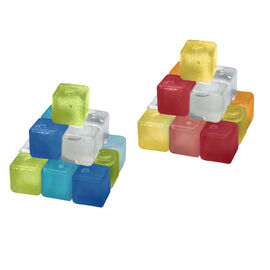 Boutique Plastic Ice Cubes - 20 pack - Assorted