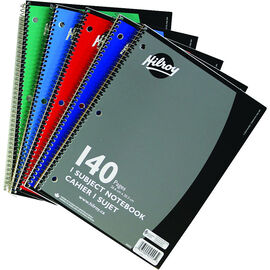 Hilroy One Subject Notebook - 140 pages - Assorted
