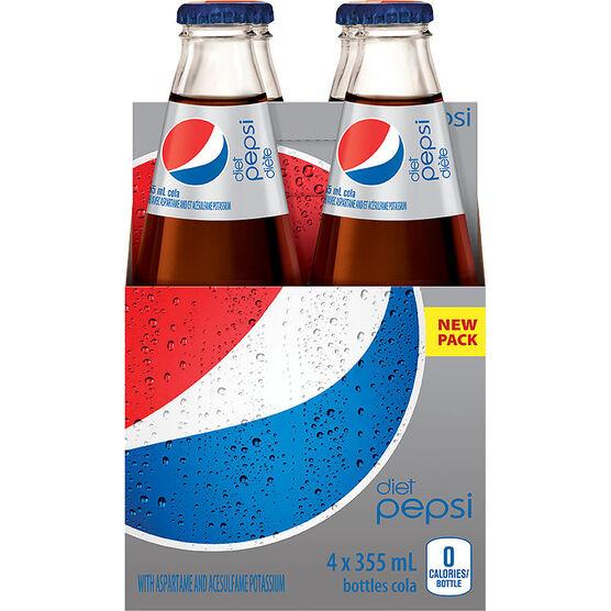 Diet Pepsi - 4pk Glass
