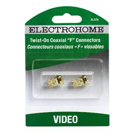 Electrohome Twist On Coaxial F Connectors - ELS76