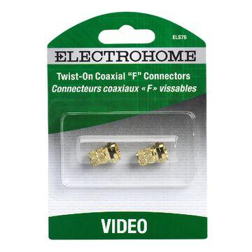 Electrohome Twist On Coaxial F Connectors - ELS76