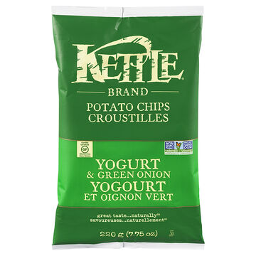 Kettle Brand Potato Chips - Yogurt and Green Onion - 220g
