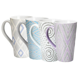 London Drugs Hand Painted Geometric Mug - 16oz - Assorted