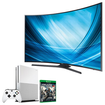 Samsung 65-in Curved UHD TV + Xbox One 1TB + Gears of War 4 Package - PKG #30659