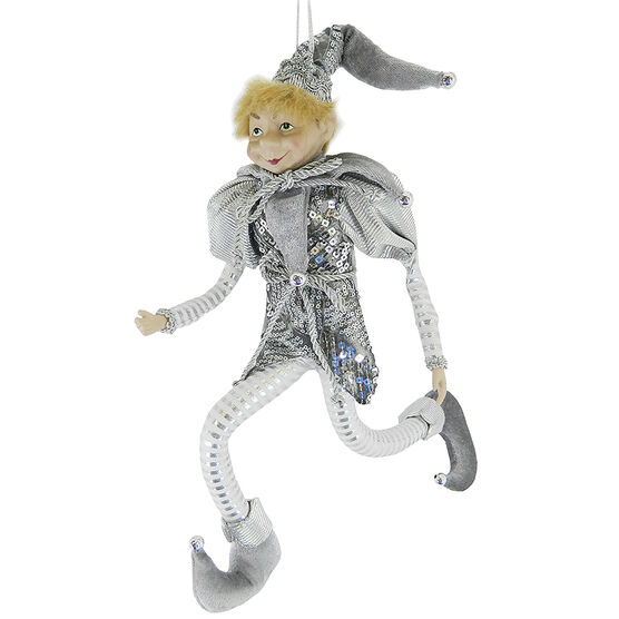 Christmas Forever Poseable Elf - 18 inch - Sequins